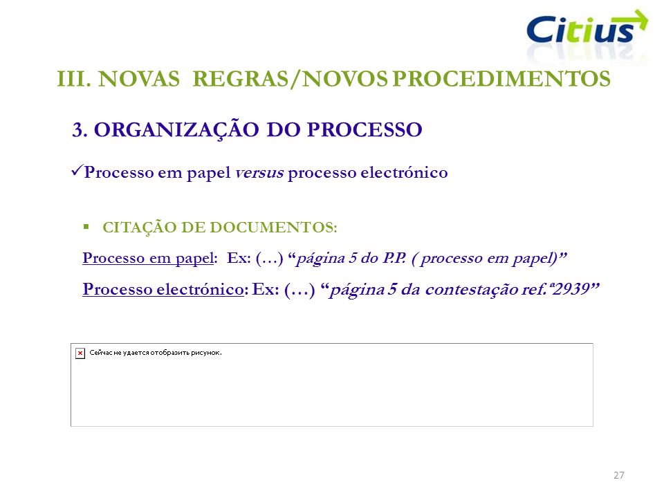 NOVAS REGRAS/NOVOS PROCEDIMENTOS