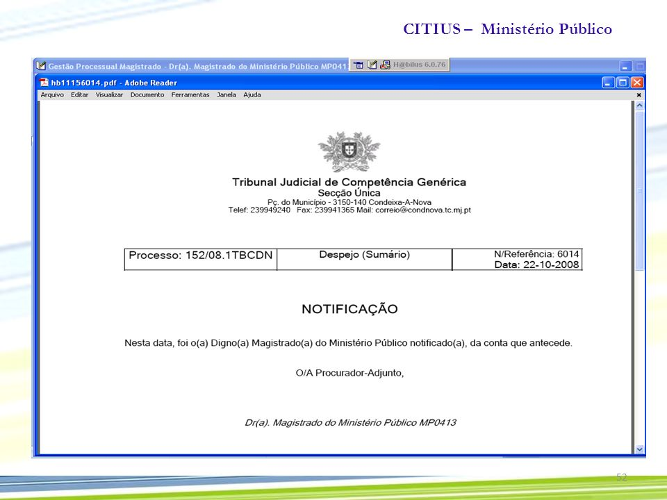 CITIUS – Ministério Público