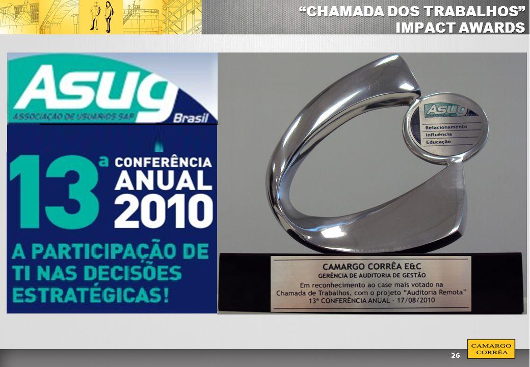 CHAMADA DOS TRABALHOS IMPACT AWARDS