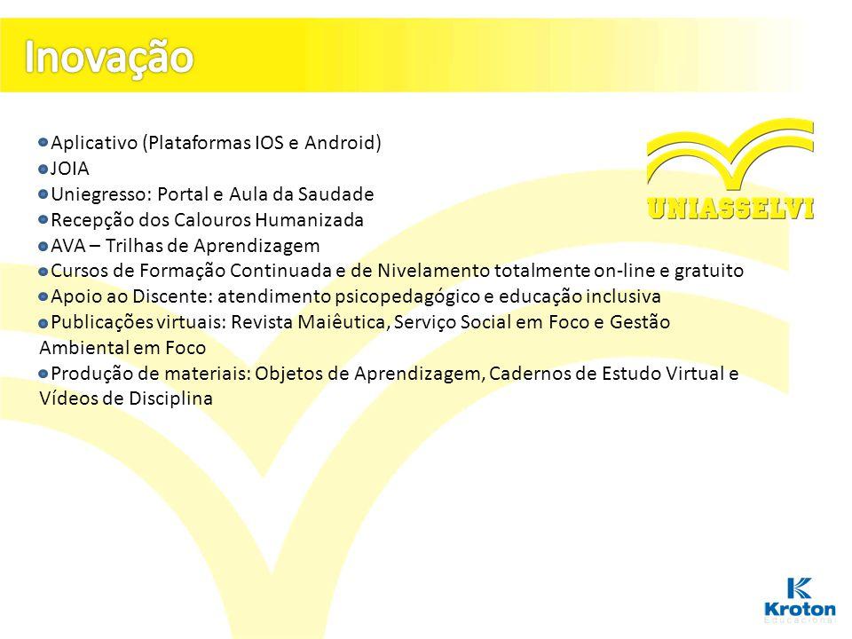 Inovação - Aplicativo (Plataformas IOS e Android) - JOIA