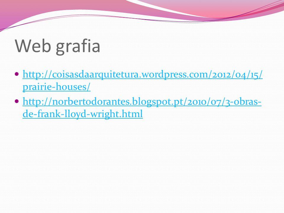 Web grafia http://coisasdaarquitetura.wordpress.com/2012/04/15/prairie-houses/