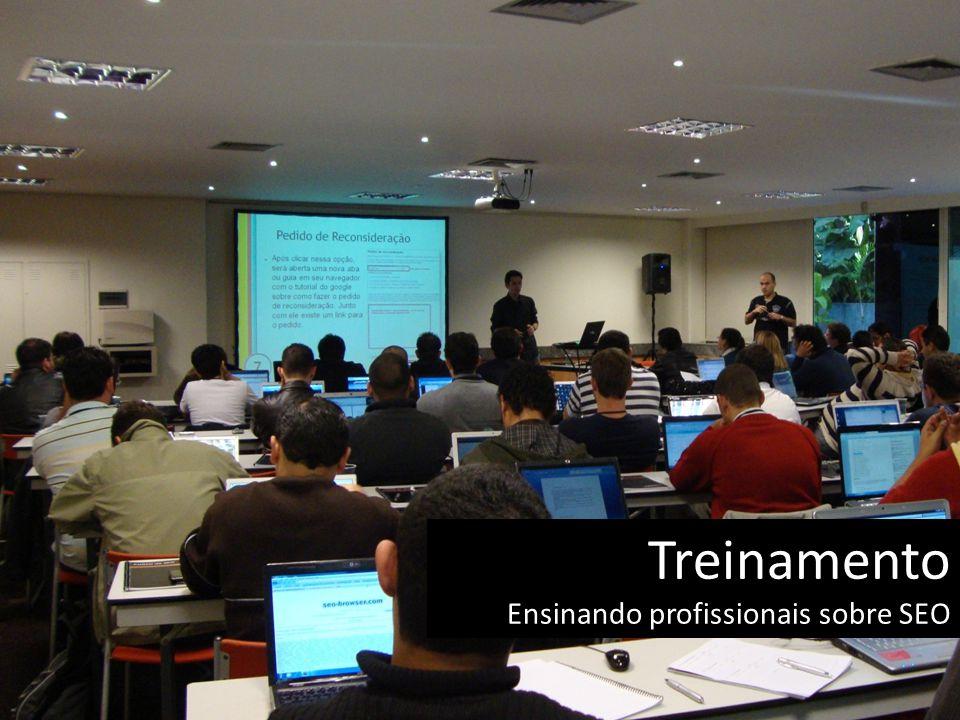 Treinamento Ensinando profissionais sobre SEO