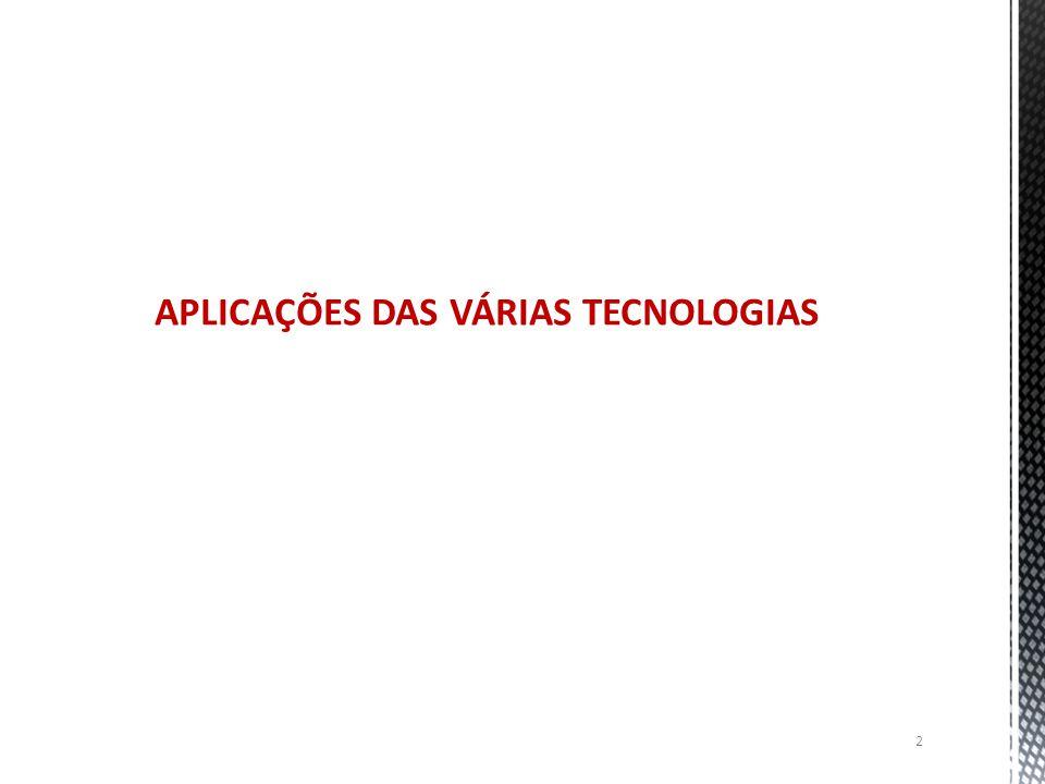 APLICAÇÕES DAS VÁRIAS TECNOLOGIAS