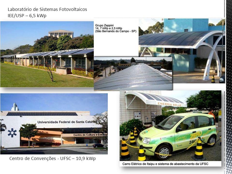 Laboratório de Sistemas Fotovoltaicos IEE/USP – 6,5 kWp