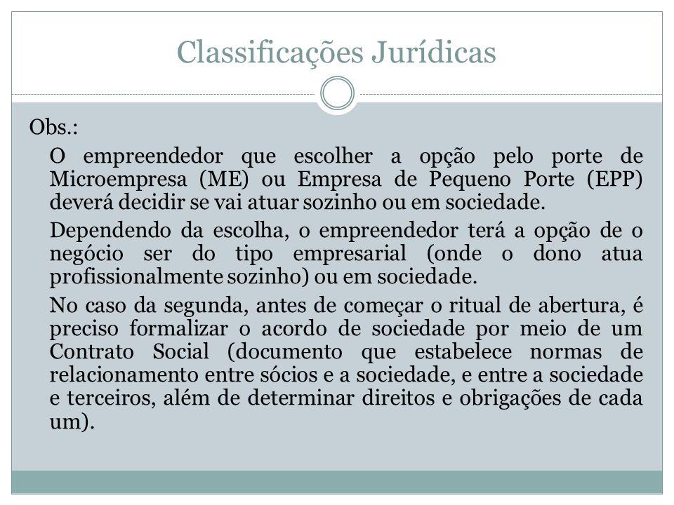 Classificações Jurídicas