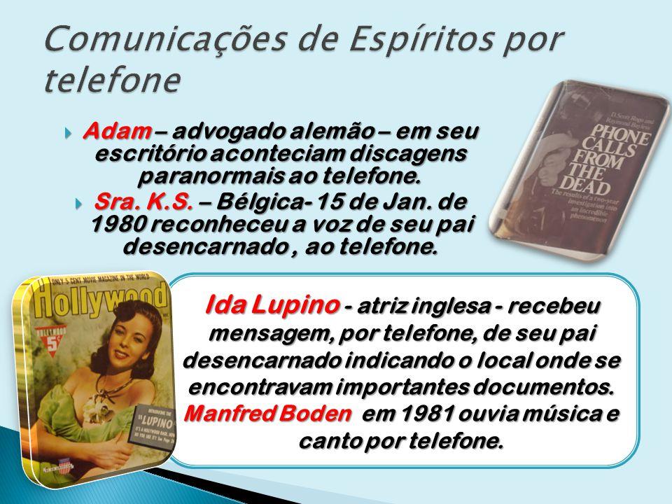 Comunicações de Espíritos por telefone