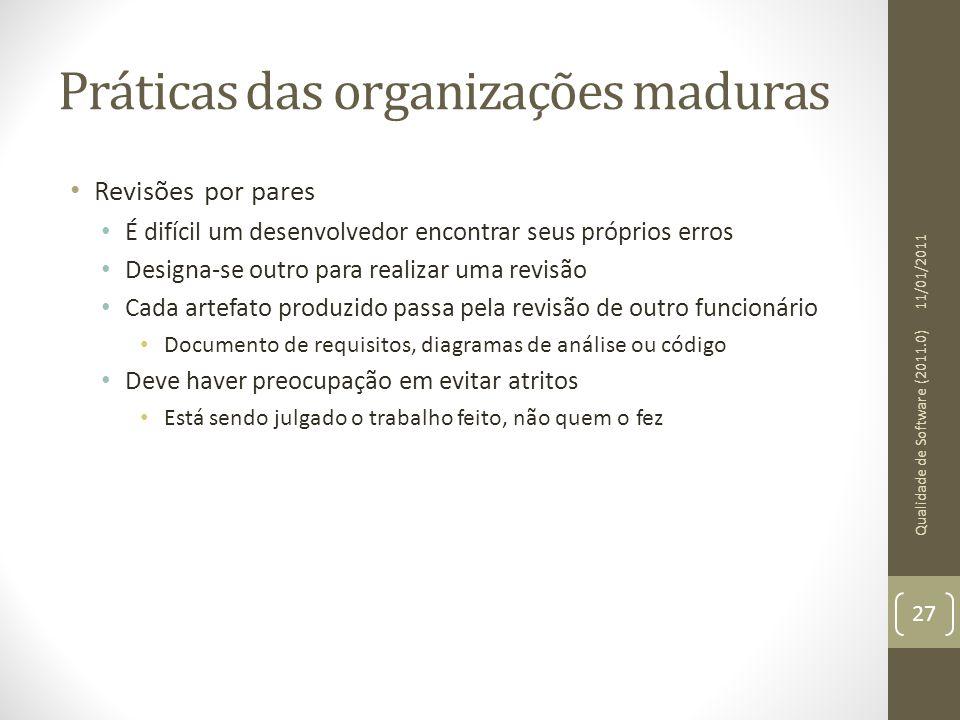 Práticas das organizações maduras