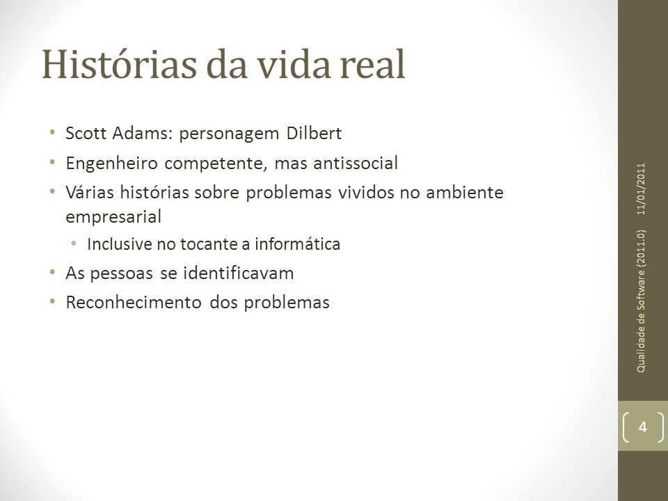 Histórias da vida real Scott Adams: personagem Dilbert