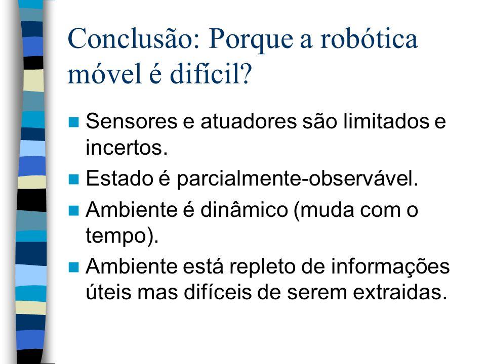 Conclusão: Porque a robótica móvel é difícil