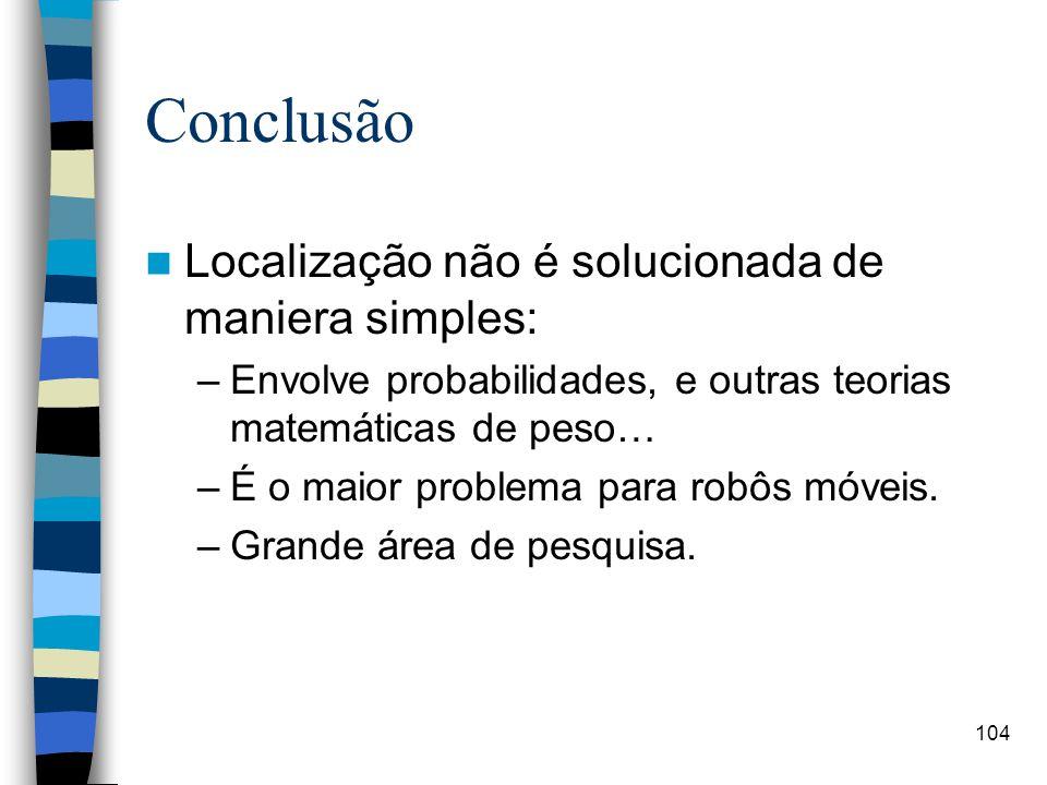 Conclusão Localização não é solucionada de maniera simples: