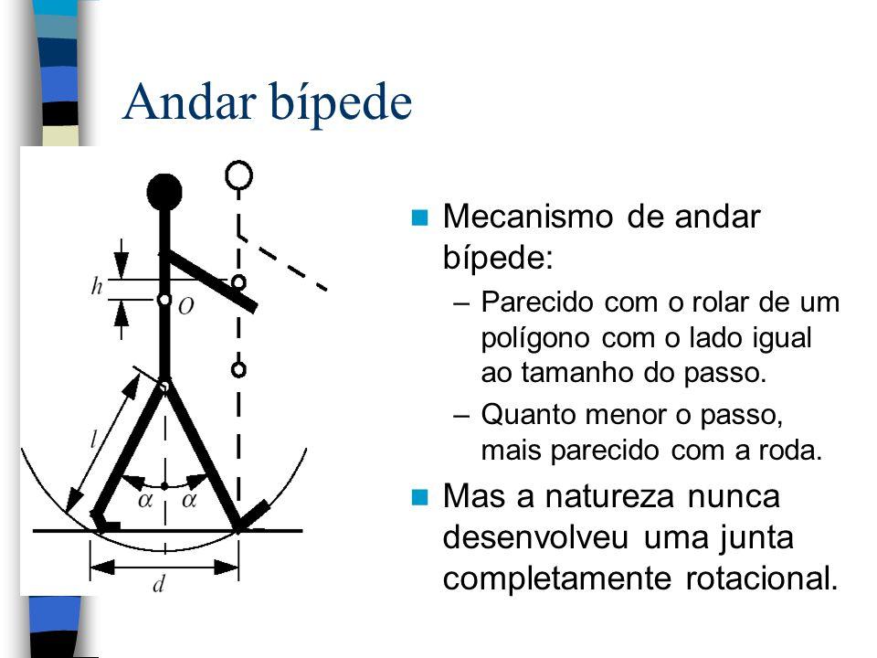 Andar bípede Mecanismo de andar bípede: