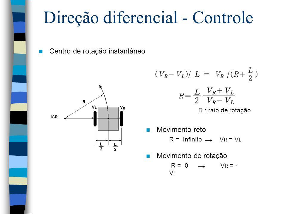 Direção diferencial - Controle