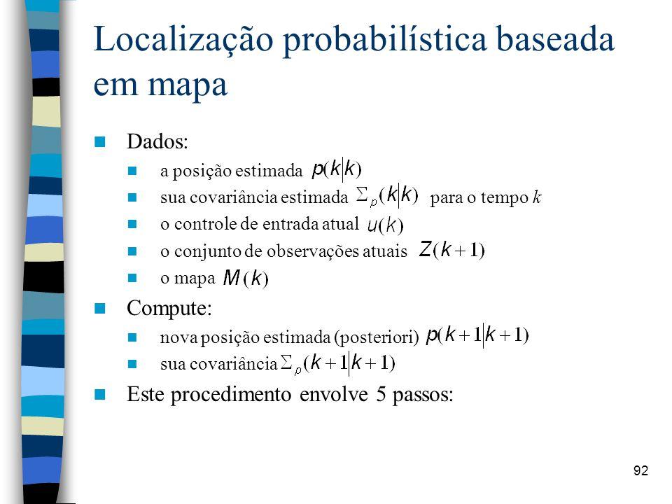Localização probabilística baseada em mapa