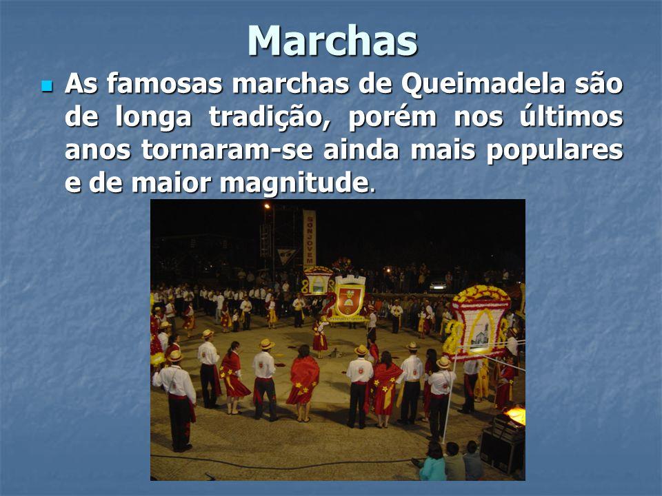 Marchas As famosas marchas de Queimadela são de longa tradição, porém nos últimos anos tornaram-se ainda mais populares e de maior magnitude.
