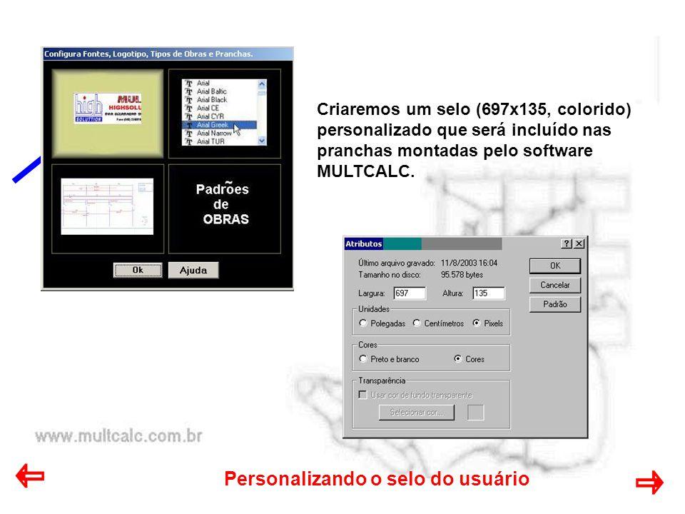Personalizando o selo do usuário