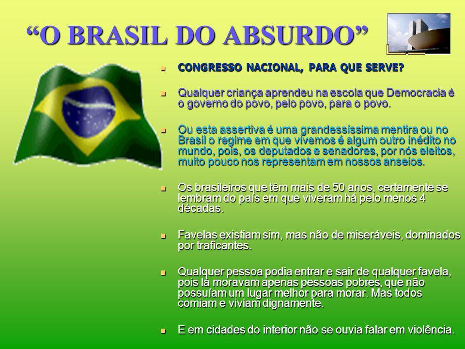 O BRASIL DO ABSURDO CONGRESSO NACIONAL, PARA QUE SERVE