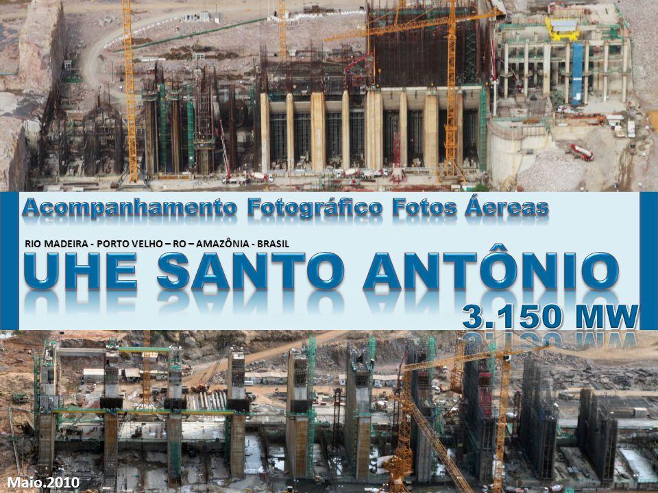 UHE SANTO ANTÔNIO 3.150 MW Acompanhamento Fotográfico Fotos Áereas