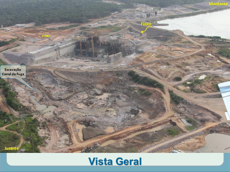 Montante Fluxo BTMD Escavação Canal de Fuga Jusante Vista Geral