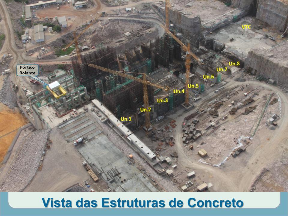 Vista das Estruturas de Concreto