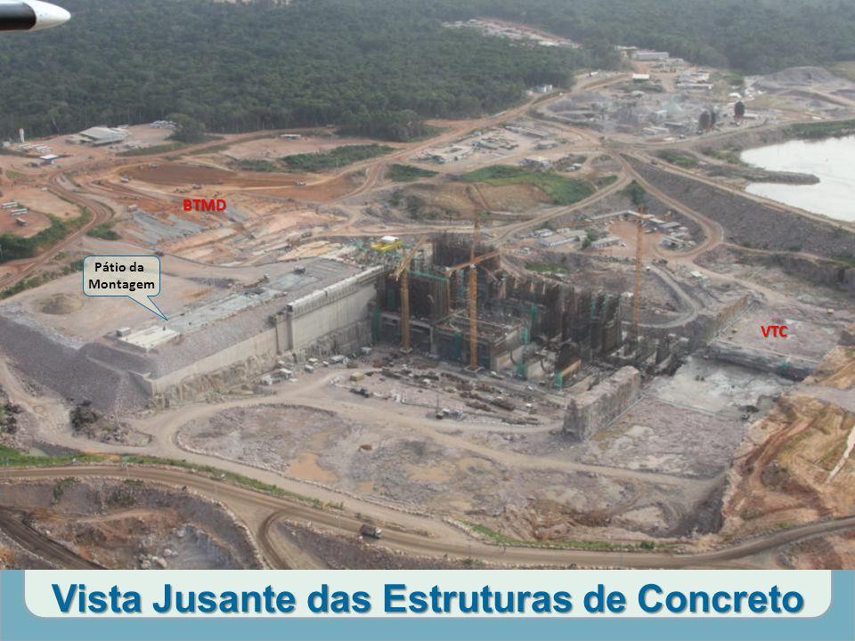 Vista Jusante das Estruturas de Concreto