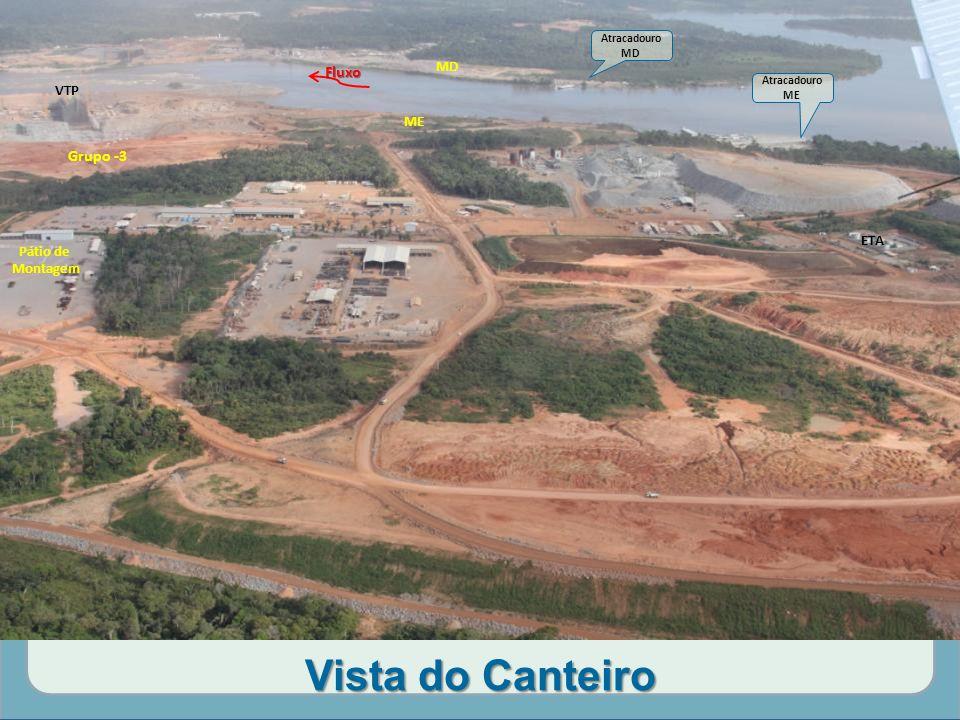 Vista do Canteiro Fluxo Grupo -3 MD VTP ME ETA Pátio de Montagem