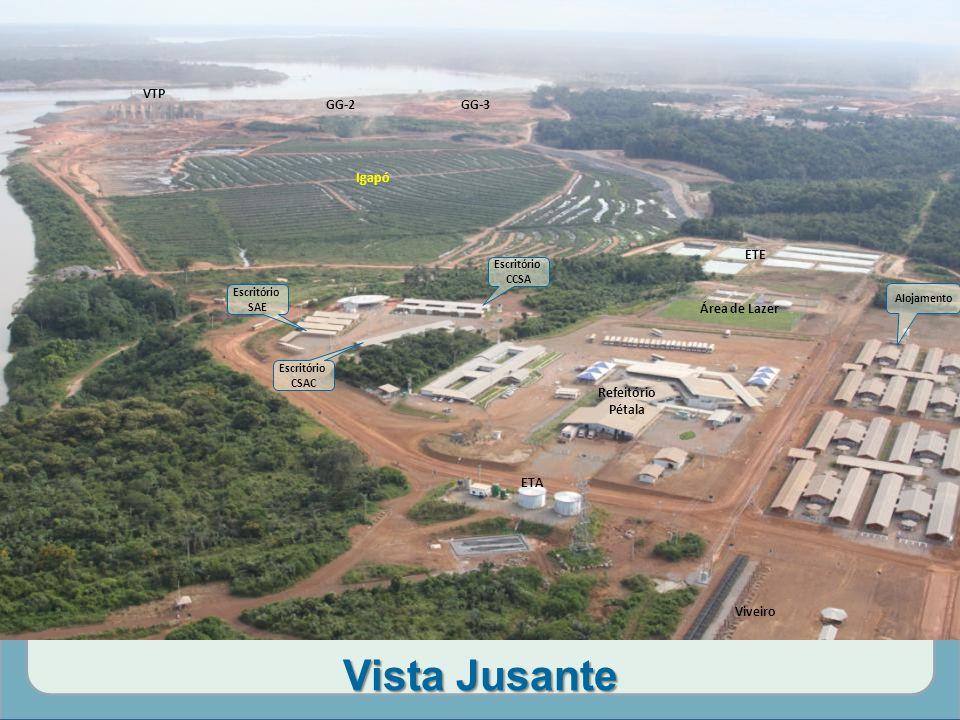 Vista Jusante VTP GG-2 GG-3 Igapó ETE Área de Lazer Refeitório Pétala