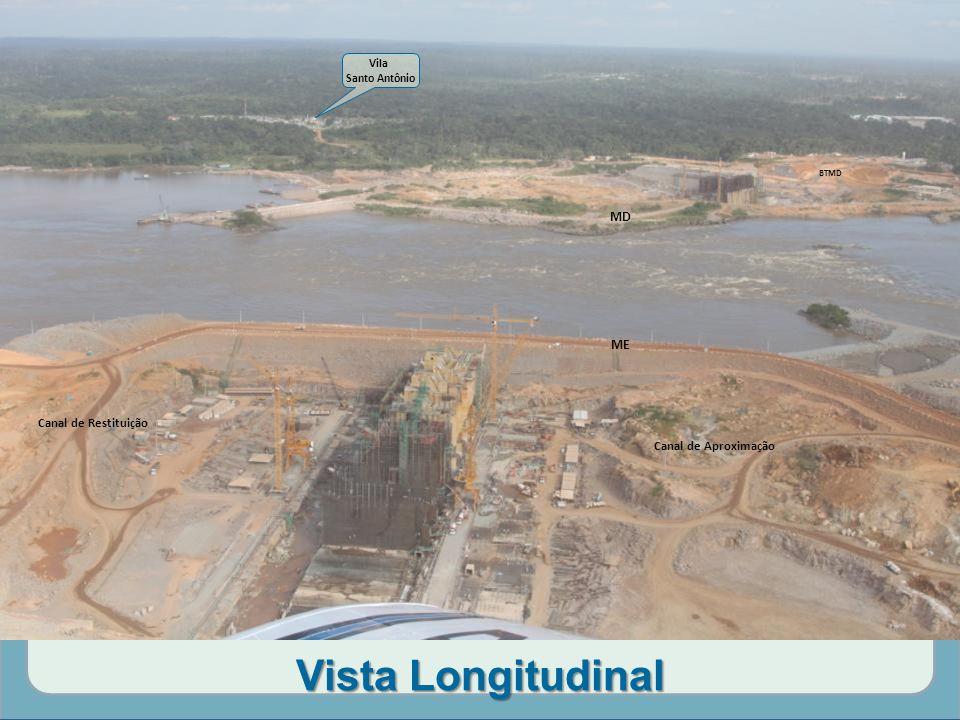 Vista Longitudinal MD ME Canal de Restituição Canal de Aproximação