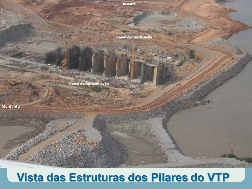 Vista das Estruturas dos Pilares do VTP