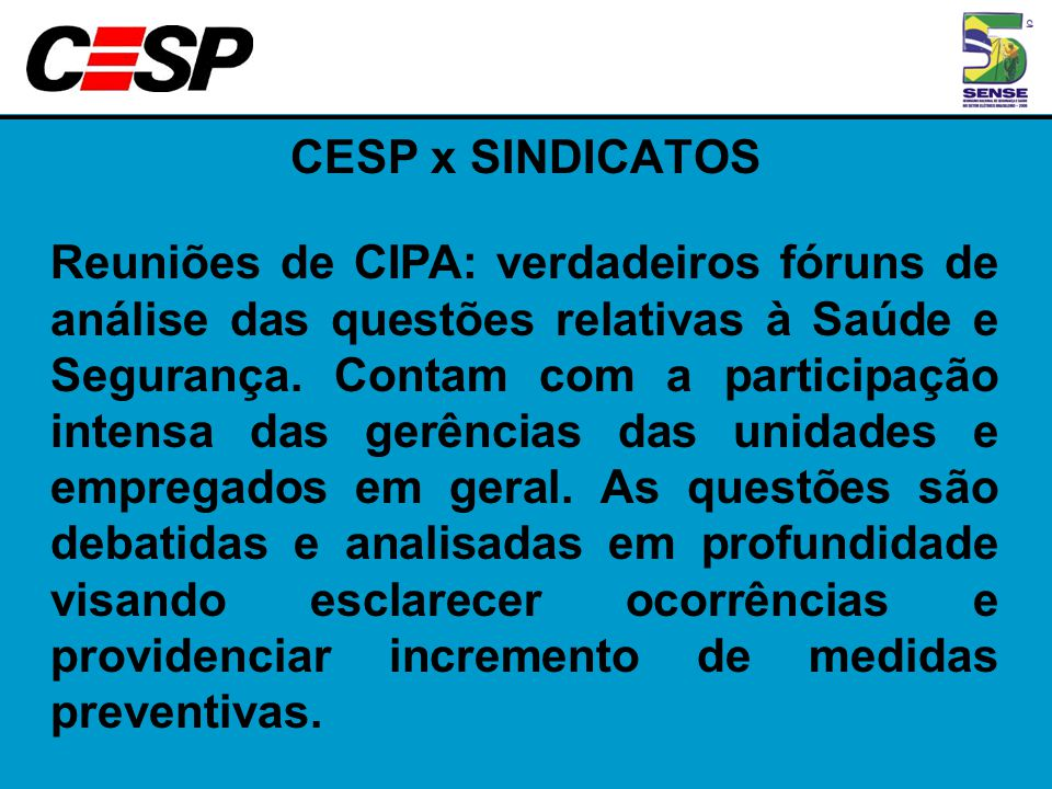CESP x SINDICATOS