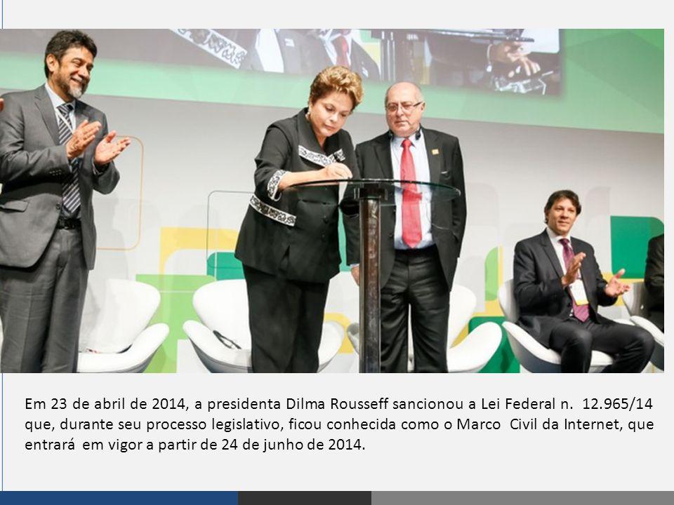 Em 23 de abril de 2014, a presidenta Dilma Rousseff sancionou a Lei Federal n.