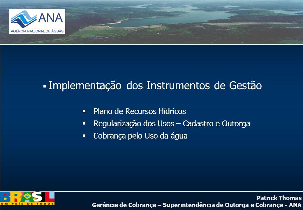 Implementação dos Instrumentos de Gestão