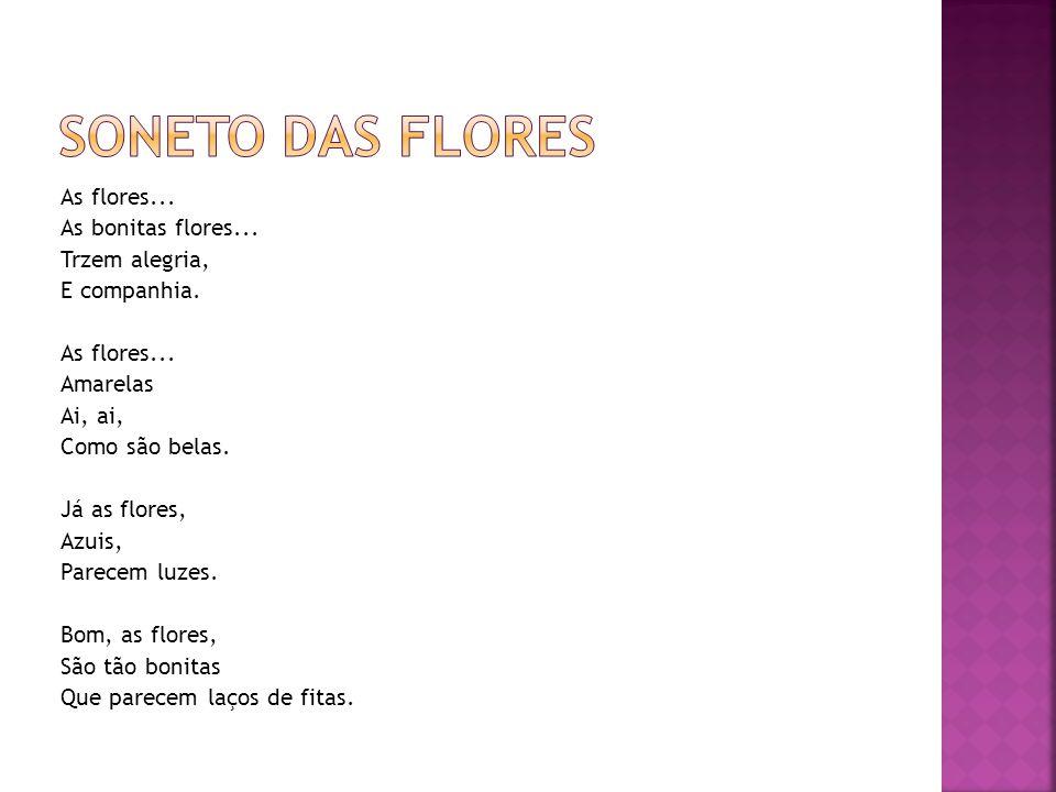 Soneto das flores