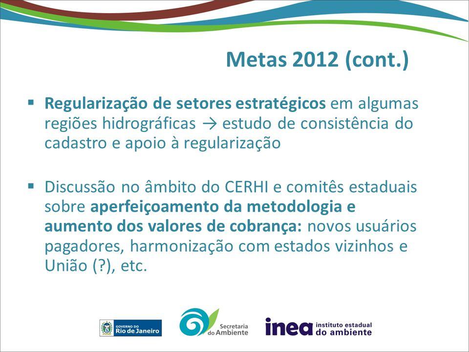 Metas 2012 (cont.)