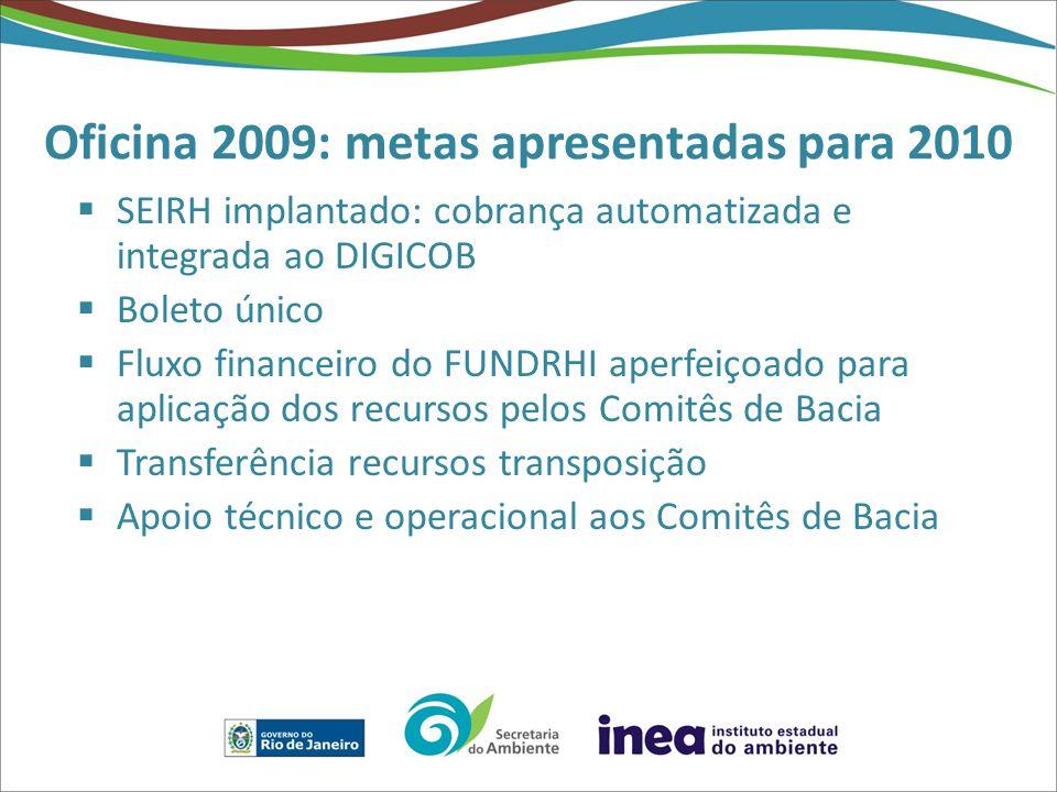 Oficina 2009: metas apresentadas para 2010