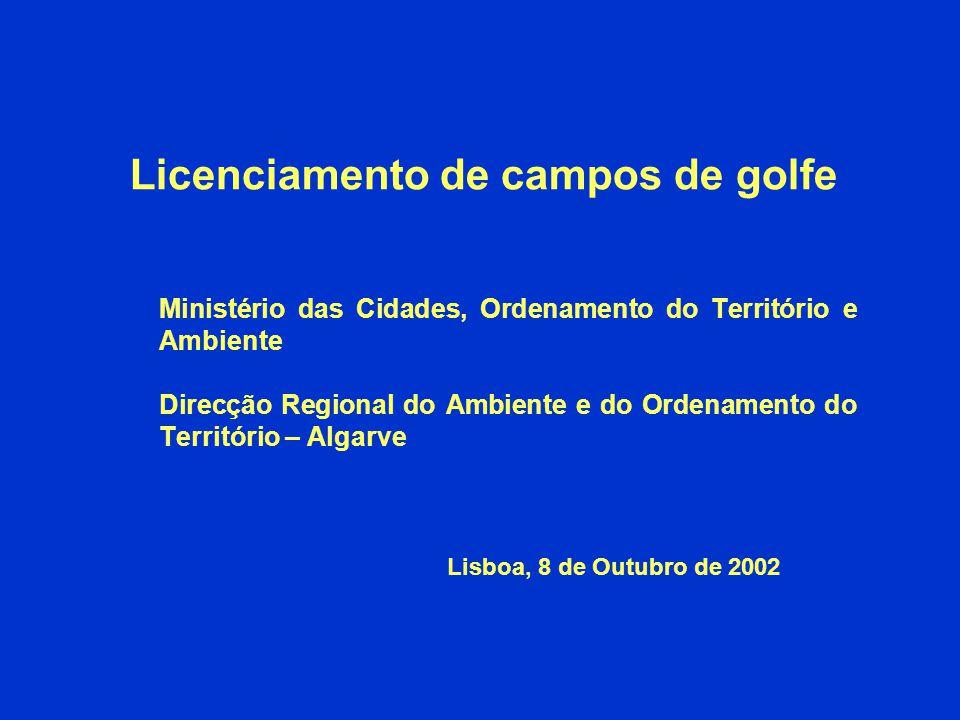 Licenciamento de campos de golfe
