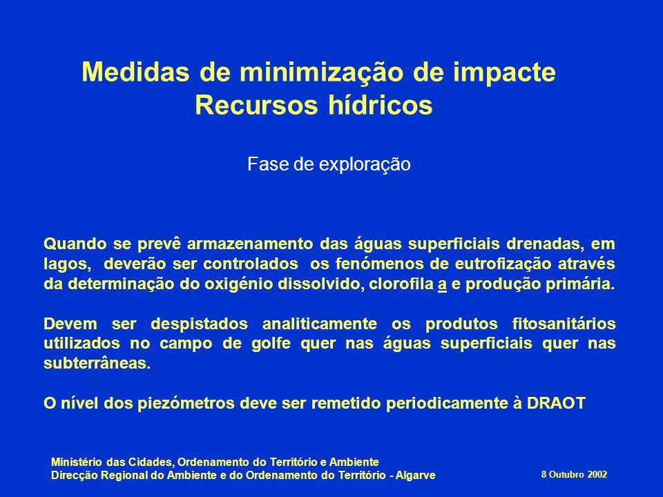 Medidas de minimização de impacte