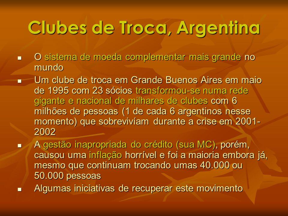 Clubes de Troca, Argentina