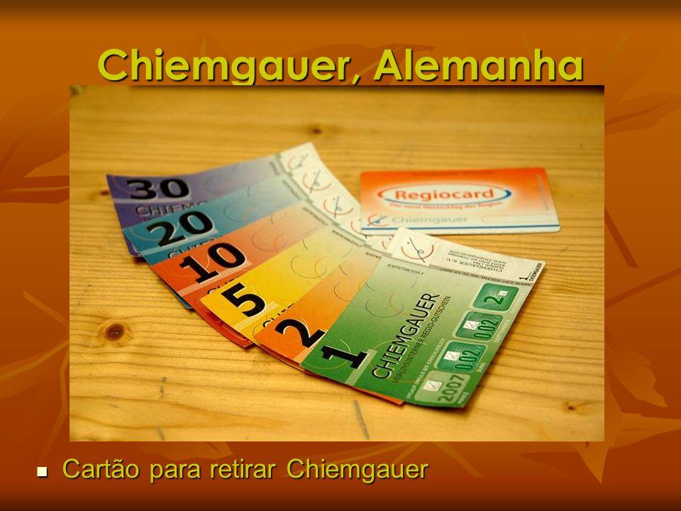 Chiemgauer, Alemanha Cartão para retirar Chiemgauer