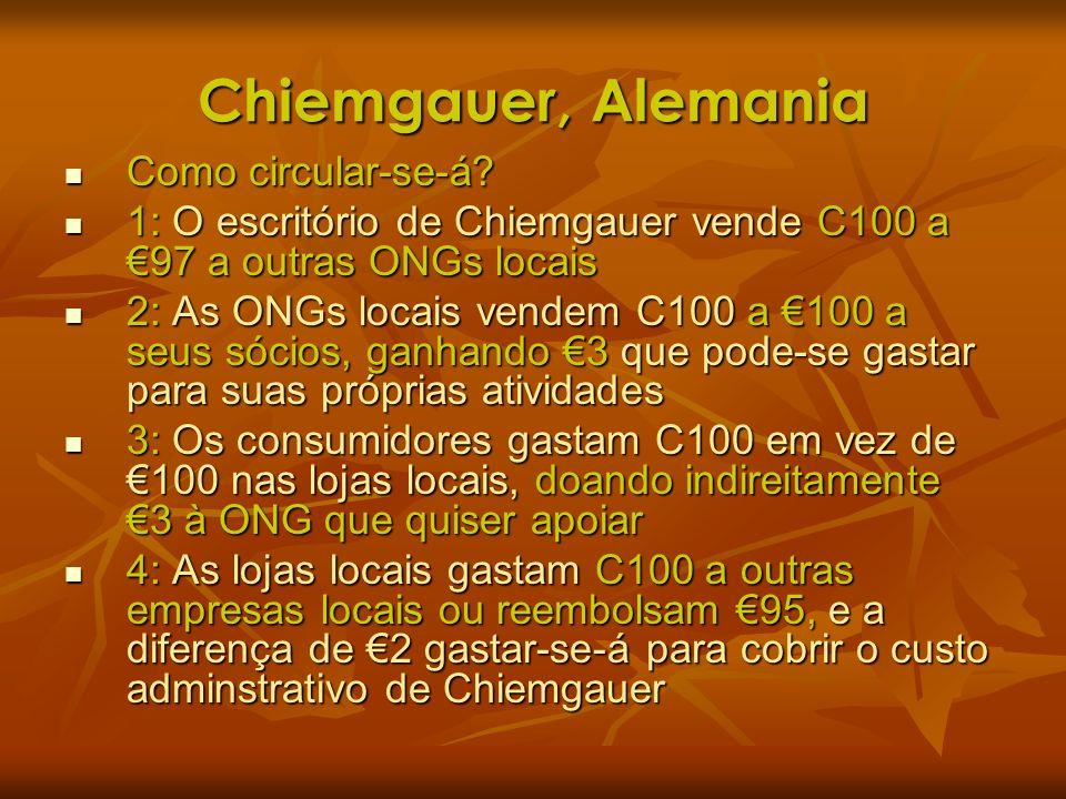 Chiemgauer, Alemania Como circular-se-á