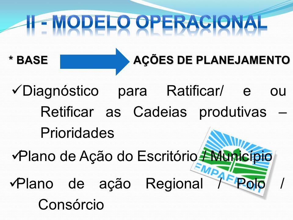 II - Modelo operacional