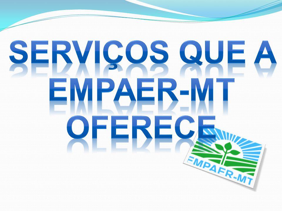 SERVIÇOS QUE A EMPAER-MT OFERECE