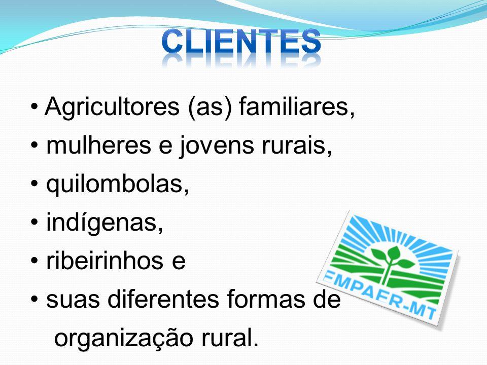 clientes Agricultores (as) familiares, mulheres e jovens rurais,