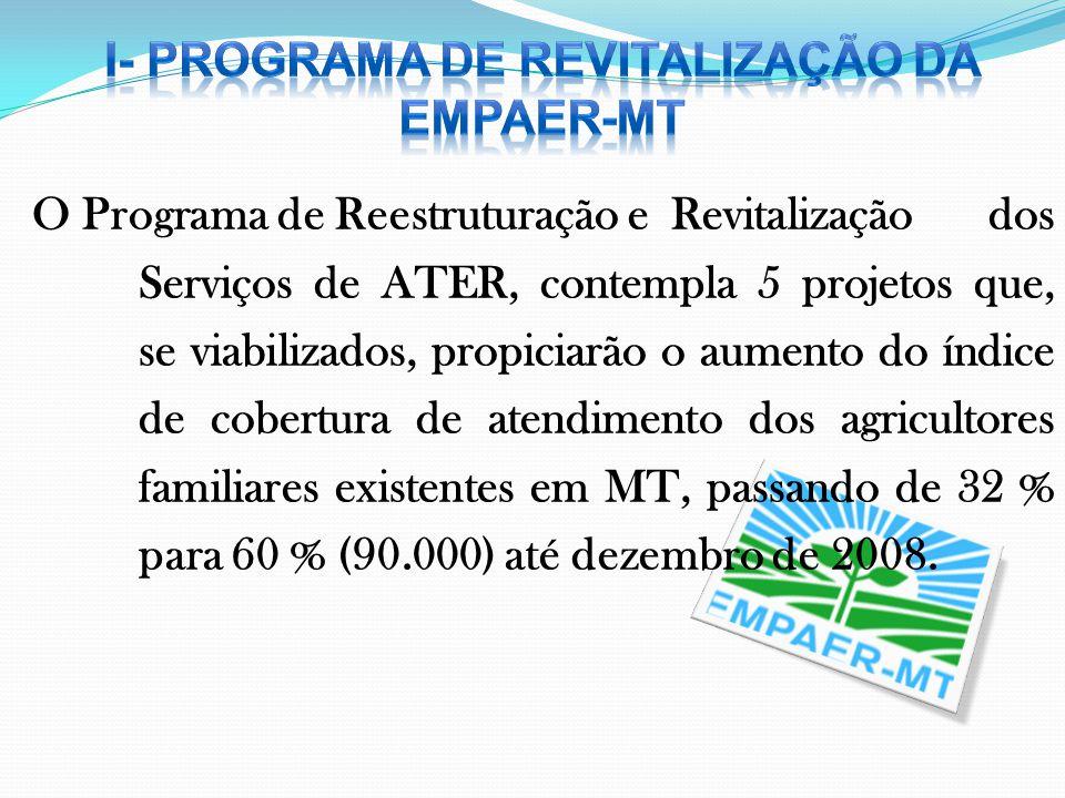 I- PROGRAMA DE REVITALIZAÇÃO DA EMPAER-MT