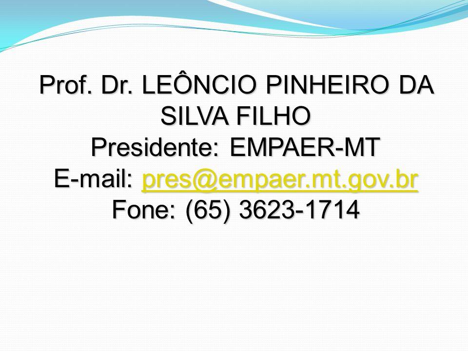 Prof. Dr. LEÔNCIO PINHEIRO DA SILVA FILHO Presidente: EMPAER-MT