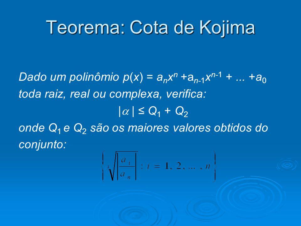 Teorema: Cota de Kojima