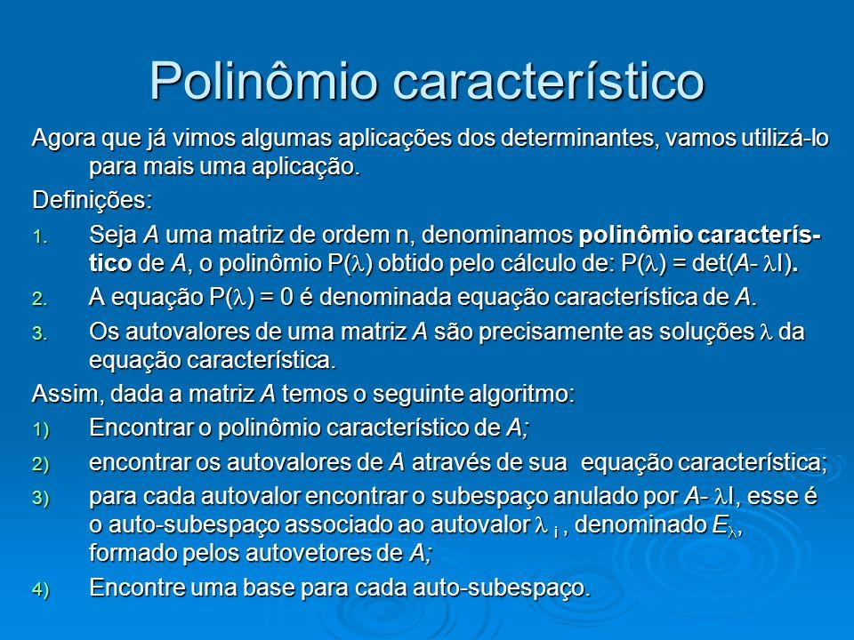 Polinômio característico