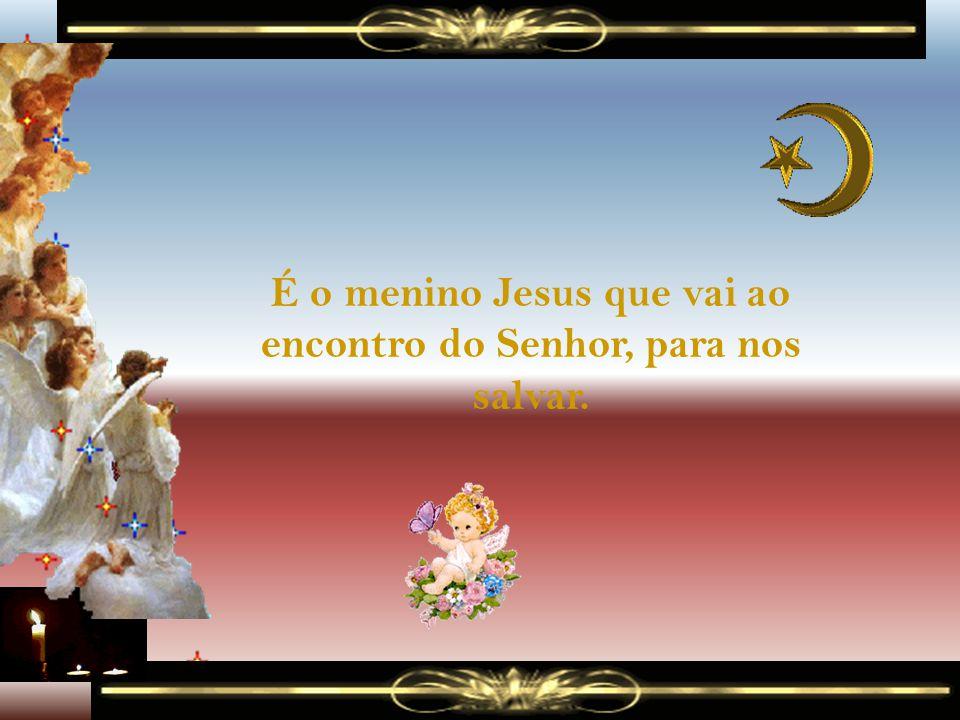 É o menino Jesus que vai ao encontro do Senhor, para nos salvar.