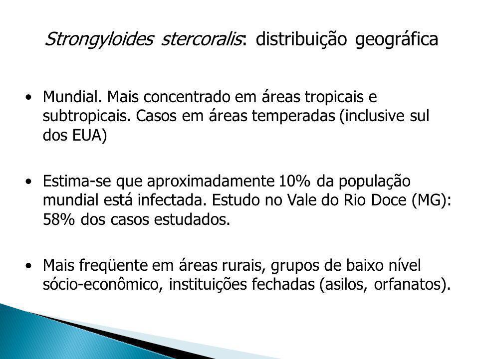 Strongyloides stercoralis: distribuição geográfica