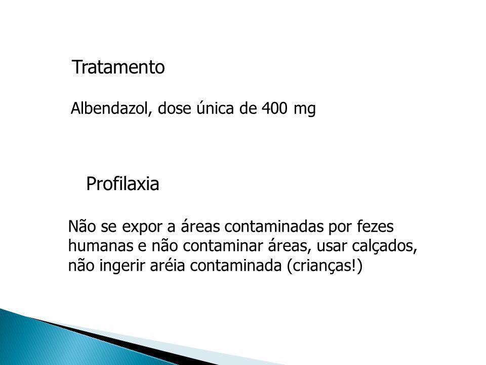 Tratamento Profilaxia Albendazol, dose única de 400 mg