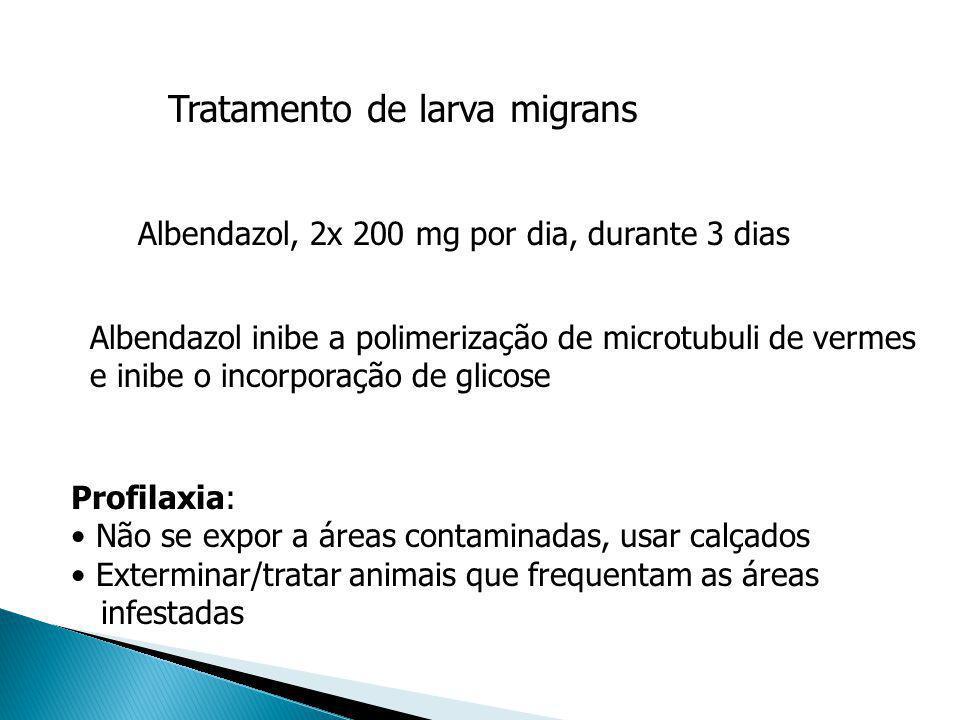 Tratamento de larva migrans